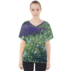 Salvia River V Neck Dolman Drape Top