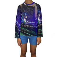 Columbus Commons Kids  Long Sleeve Swimwear