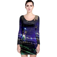 Columbus Commons Long Sleeve Bodycon Dress