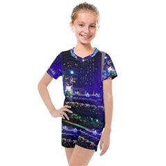 Columbus Commons Kids  Mesh Tee And Shorts Set