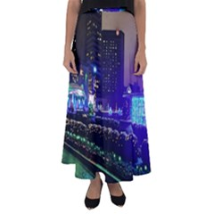Columbus Commons Flared Maxi Skirt