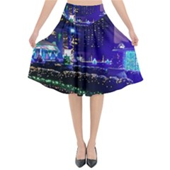 Columbus Commons Flared Midi Skirt