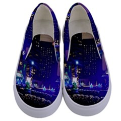 Columbus Commons Kids  Canvas Slip Ons