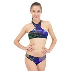 Columbus Commons High Neck Bikini Set