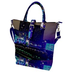 Columbus Commons Buckle Top Tote Bag