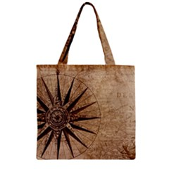 Vintage Compass Zipper Grocery Tote Bag by WensdaiAddamns