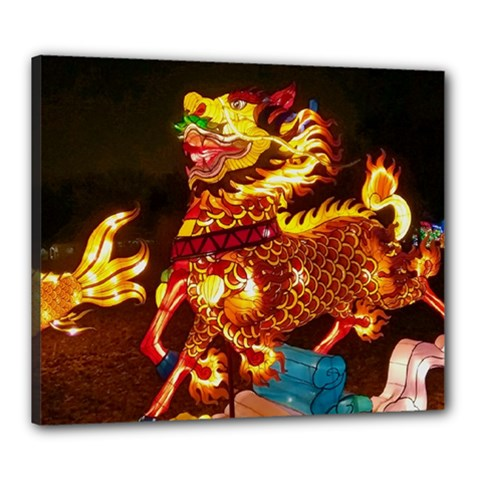 Dragon Lights Canvas 24  X 20  (stretched)