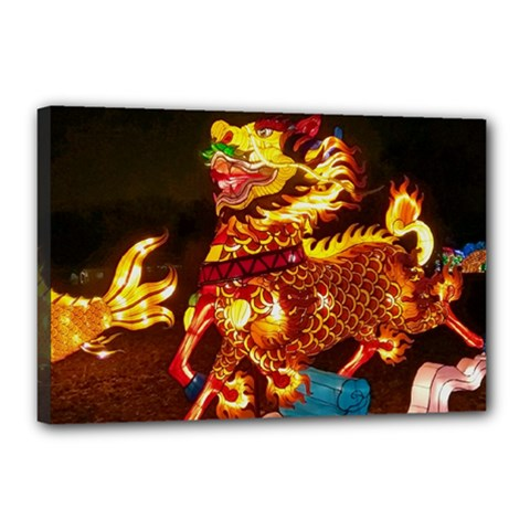 Dragon Lights Canvas 18  X 12  (stretched)