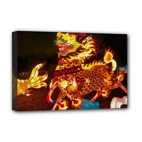 Dragon Lights Deluxe Canvas 18  X 12  (stretched)