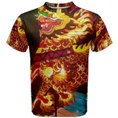 Dragon Lights Men s Cotton Tee