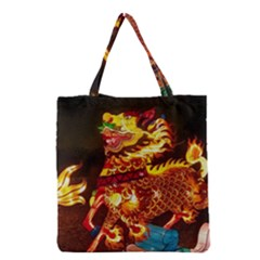 Dragon Lights Grocery Tote Bag
