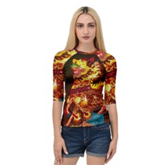 Dragon Lights Quarter Sleeve Raglan Tee