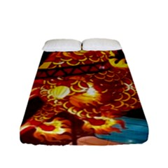 Dragon Lights Fitted Sheet (full/ Double Size)