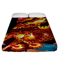 Dragon Lights Fitted Sheet (king Size)