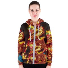 Dragon Lights Women s Zipper Hoodie