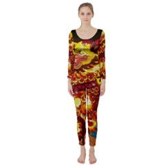 Dragon Lights Long Sleeve Catsuit