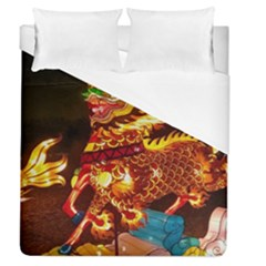 Dragon Lights Duvet Cover (queen Size)