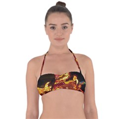 Dragon Lights Halter Bandeau Bikini Top