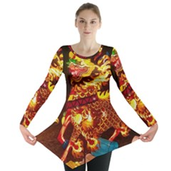 Dragon Lights Long Sleeve Tunic