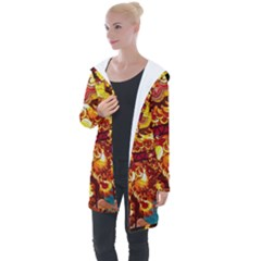 Dragon Lights Longline Hooded Cardigan