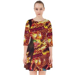 Dragon Lights Smock Dress