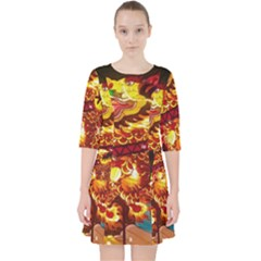 Dragon Lights Pocket Dress