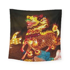 Dragon Lights Square Tapestry (small)