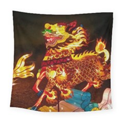 Dragon Lights Square Tapestry (large)