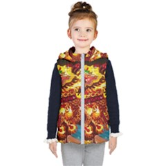 Dragon Lights Kids  Hooded Puffer Vest