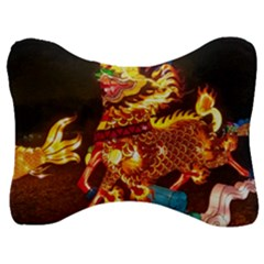 Dragon Lights Velour Seat Head Rest Cushion