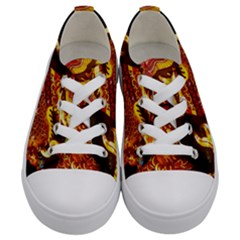 Dragon Lights Kids  Low Top Canvas Sneakers
