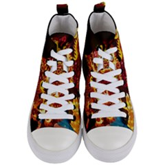 Dragon Lights Women s Mid Top Canvas Sneakers