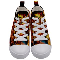 Dragon Lights Kids  Mid Top Canvas Sneakers