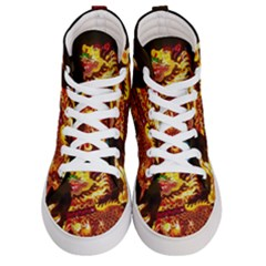 Dragon Lights Women s Hi Top Skate Sneakers