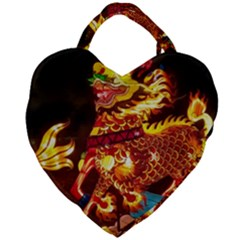 Dragon Lights Giant Heart Shaped Tote