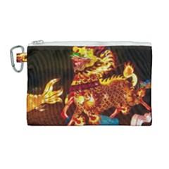 Dragon Lights Canvas Cosmetic Bag (large)