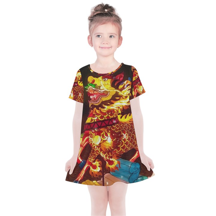 Dragon Lights Kids  Simple Cotton Dress