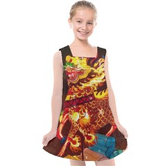 Dragon Lights Kids  Cross Back Dress