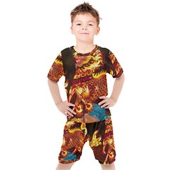 Dragon Lights Kids  Tee And Shorts Set