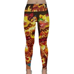 Dragon Lights Lightweight Velour Classic Yoga Leggings