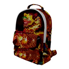 Dragon Lights Flap Pocket Backpack (large)