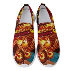 Dragon Lights Women s Slip On Sneakers