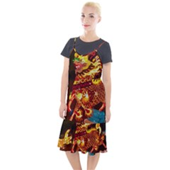 Dragon Lights Camis Fishtail Dress