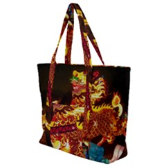 Dragon Lights Zip Up Canvas Bag