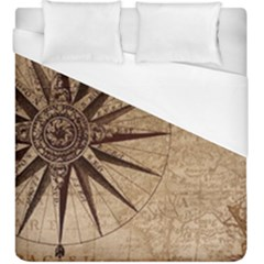 Vintage Compass Duvet Cover (king Size)