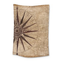 Vintage Compass Small Tapestry by WensdaiAddamns