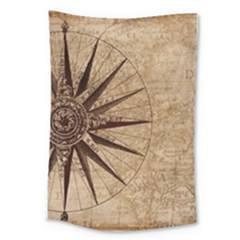 Vintage Compass Large Tapestry by WensdaiAddamns