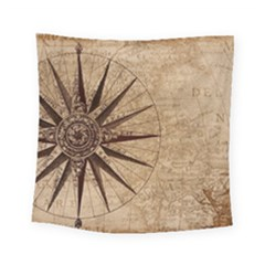 Vintage Compass Square Tapestry (small) by WensdaiAddamns