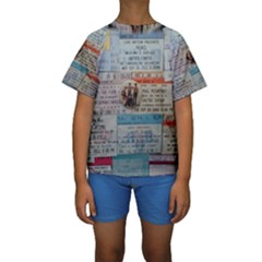 Concert Memorabilia  Kids  Short Sleeve Swimwear