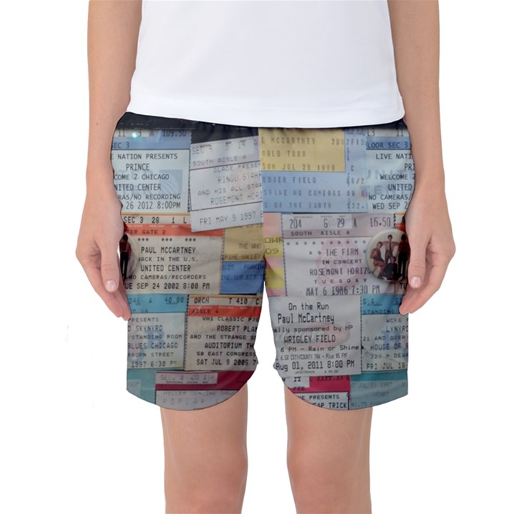 Concert Memorabilia  Women s Basketball Shorts